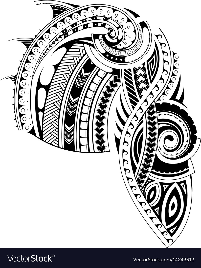 Maori Style Sleeve Tattoo Template Royalty Free Vector Image