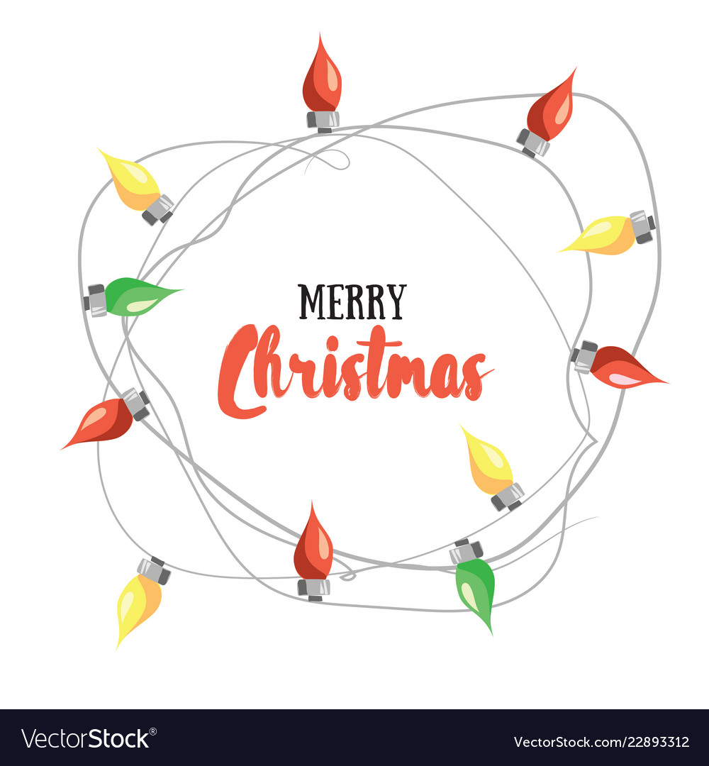 Merry Christmas Greetin Card With Royalty Free Vector Image