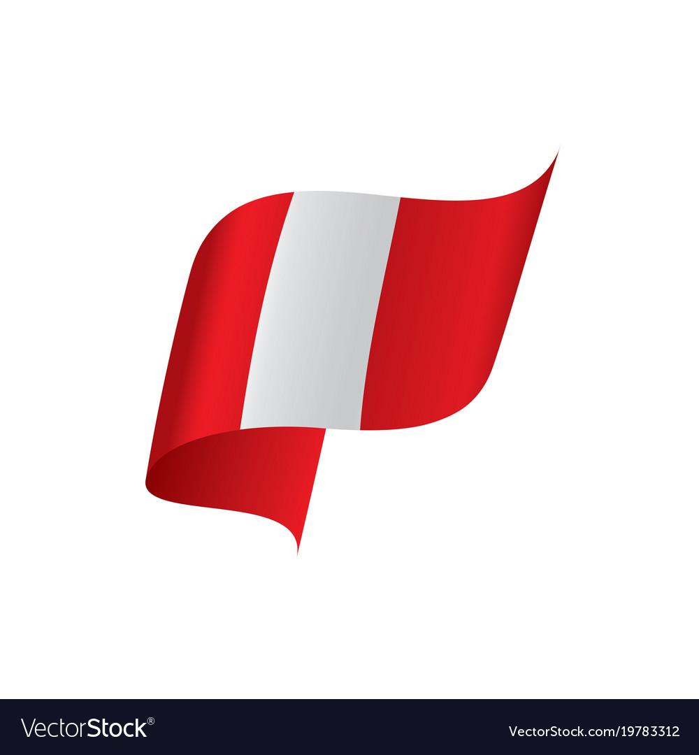 peru flag royalty free vector image vectorstock