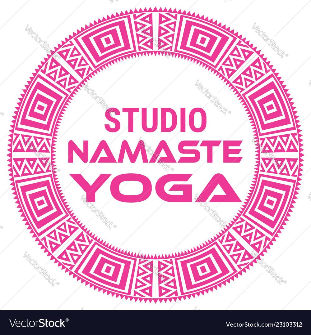 Yoga name of yoga studio on a