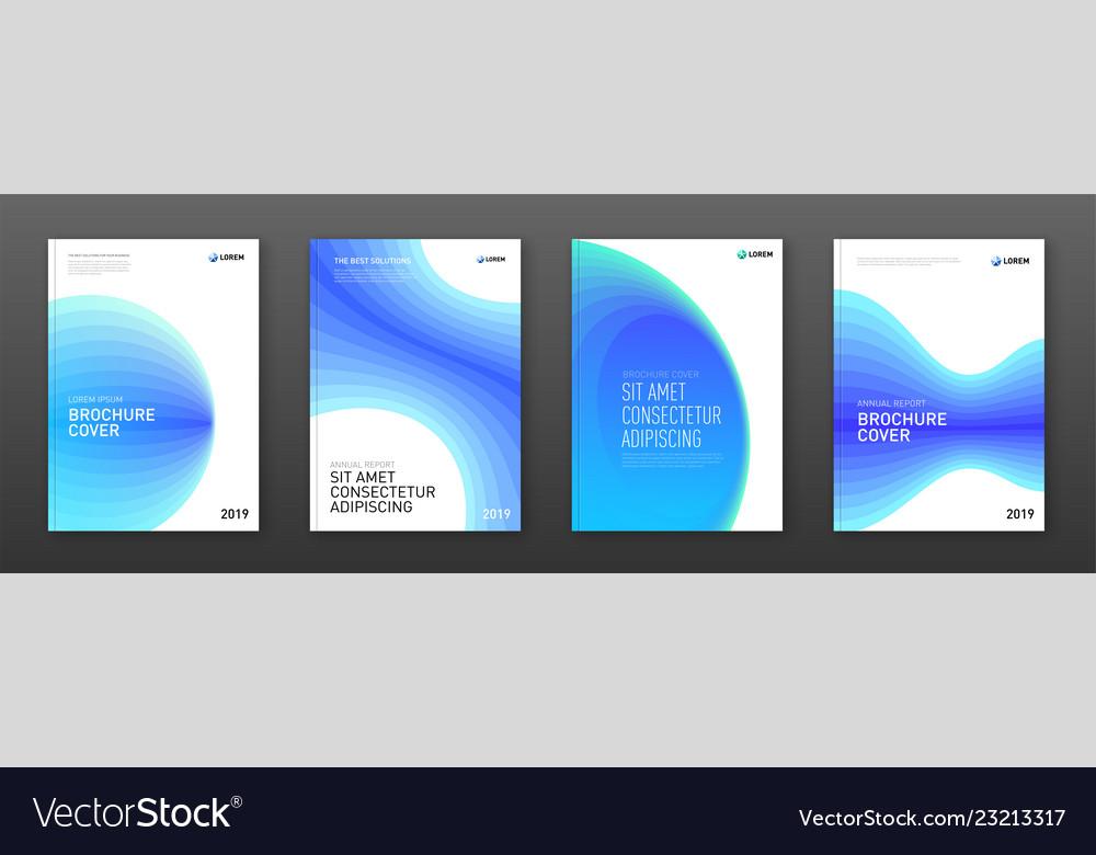 Corporate brochure cover design templates set