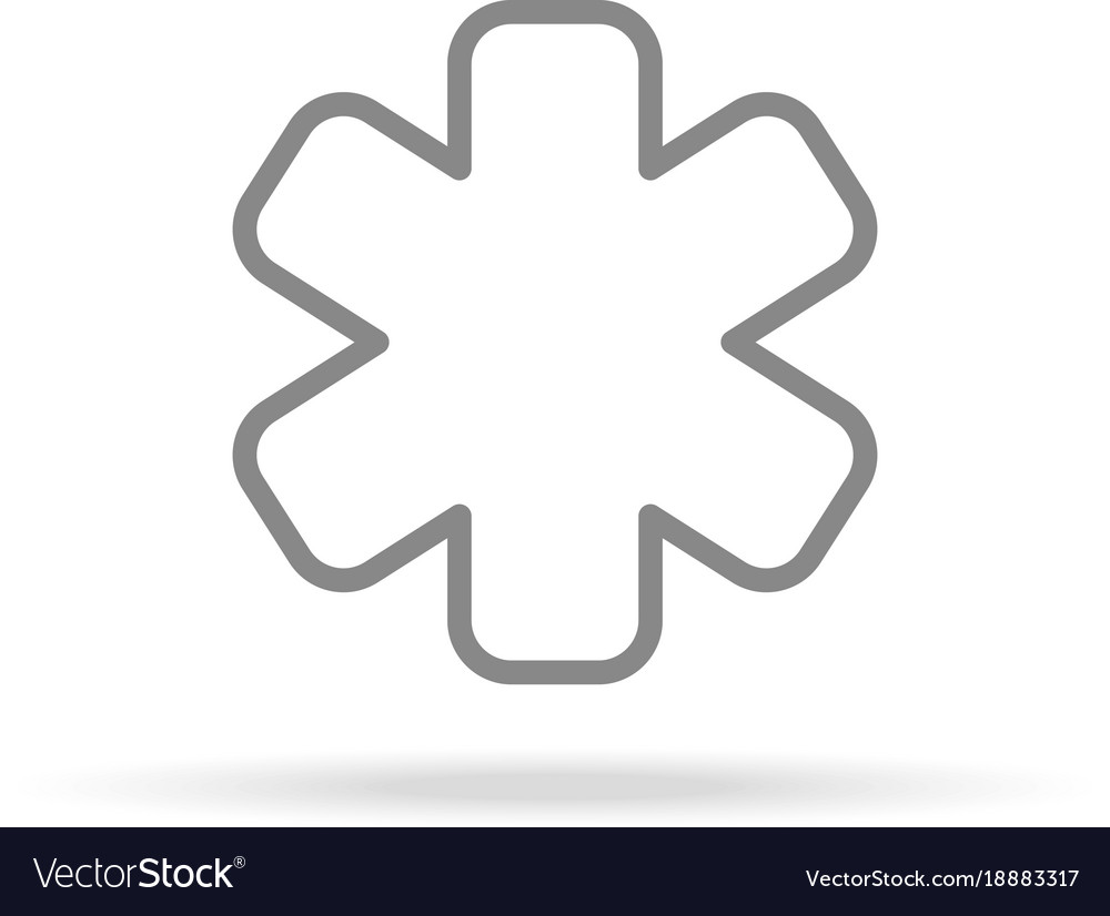 Emergency icon in trendy thin line style isolated vector image