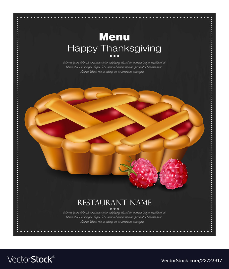 Happy thanksgiving pie card 3d detailed