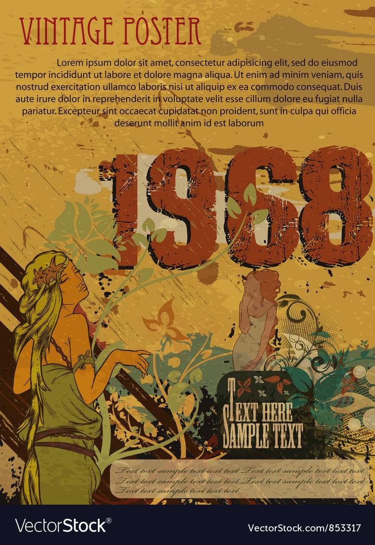 Retro grunge poster vector image