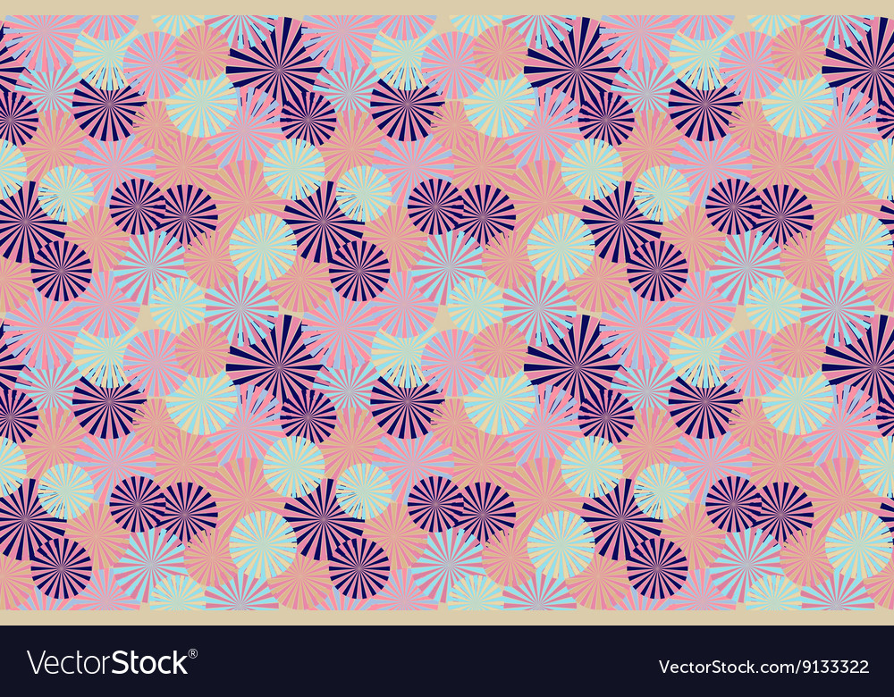 Abstract circle flower seamless pattern background