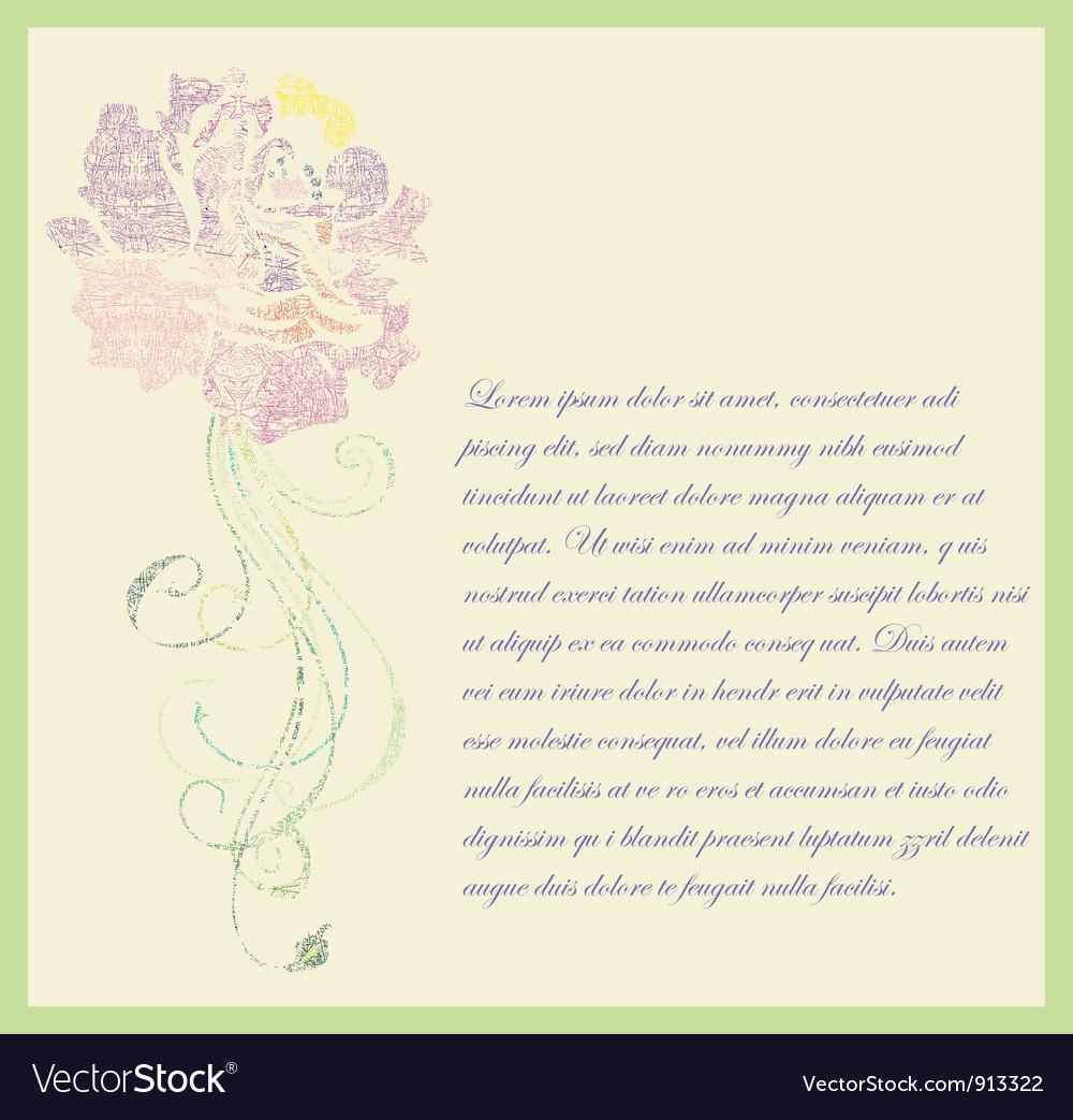 Floral hand drawn card