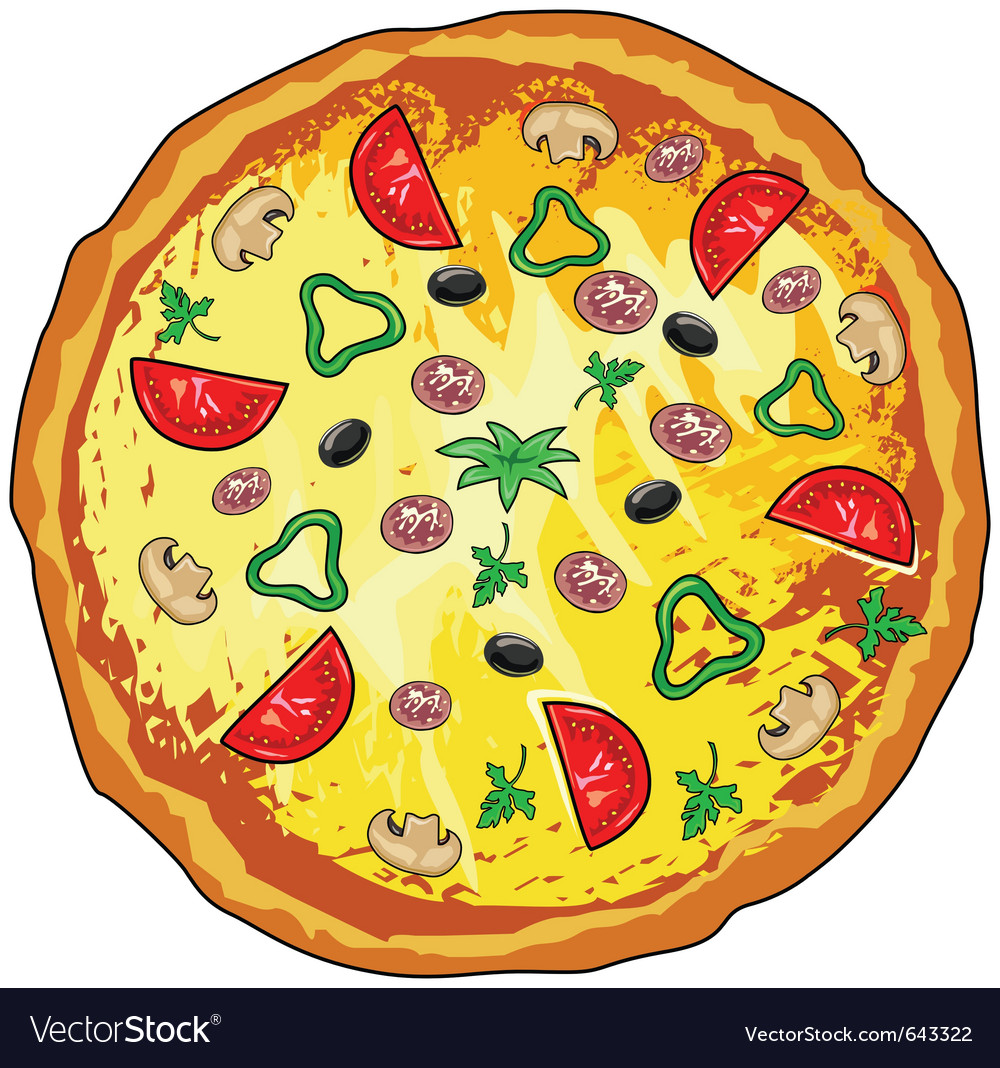 pizza royalty free vector image vectorstock rh vectorstock com pizza vector free downloads pizza vectoriel