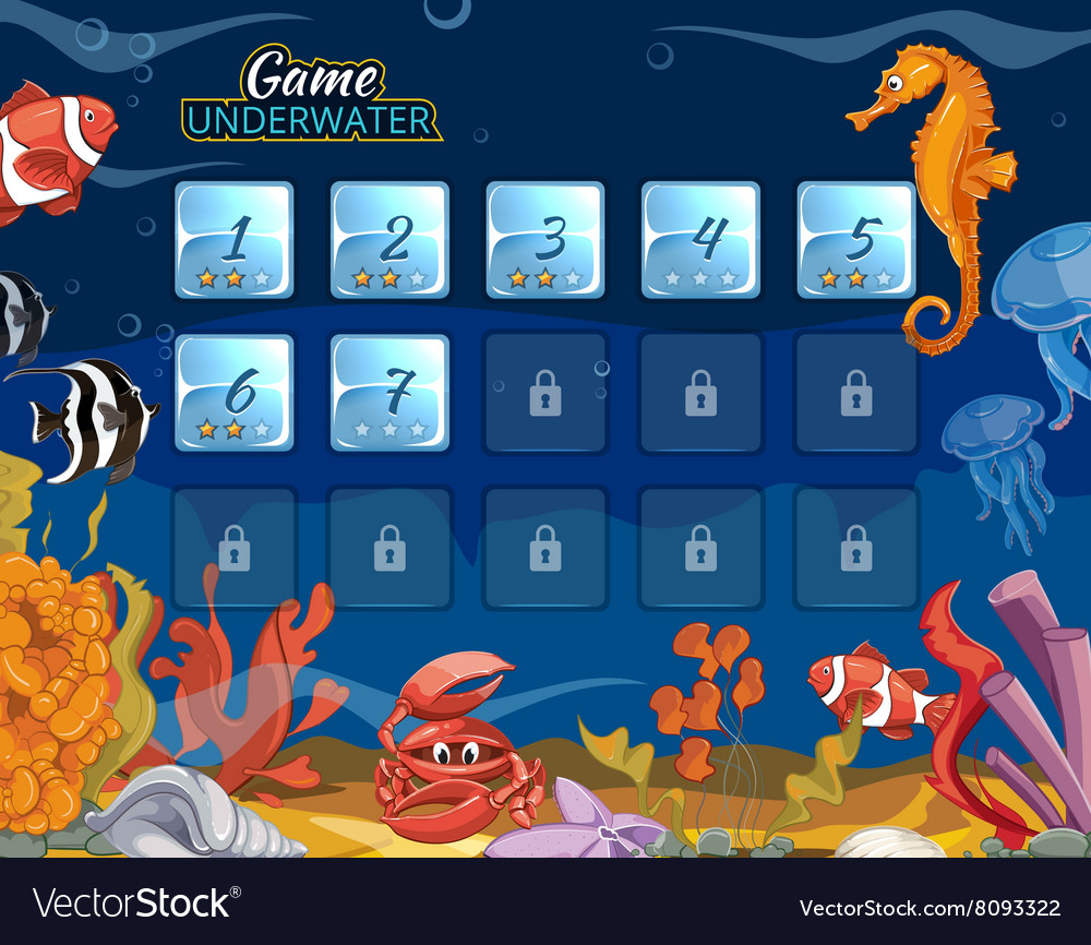 Submarine computer game with user interface