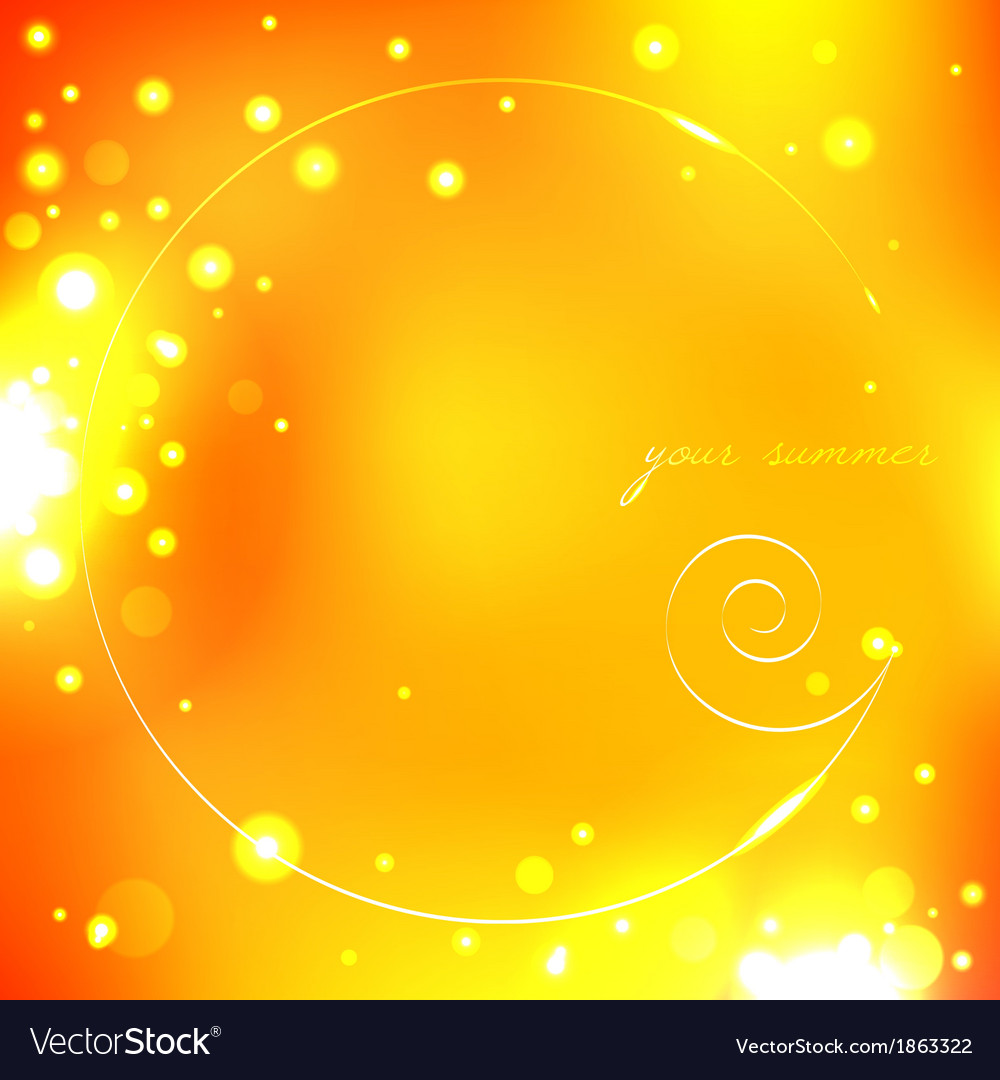 Summer yellow background with shell