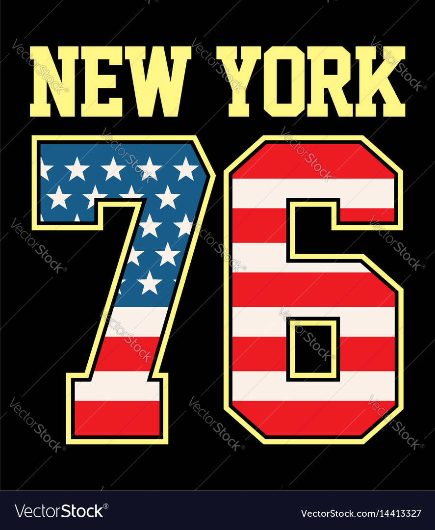 Athletic new york 76 tshirt graphic