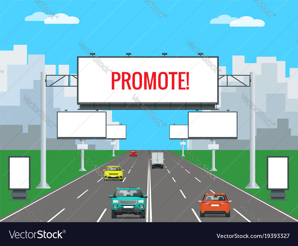 big blank billboard poster board banner royalty free vector