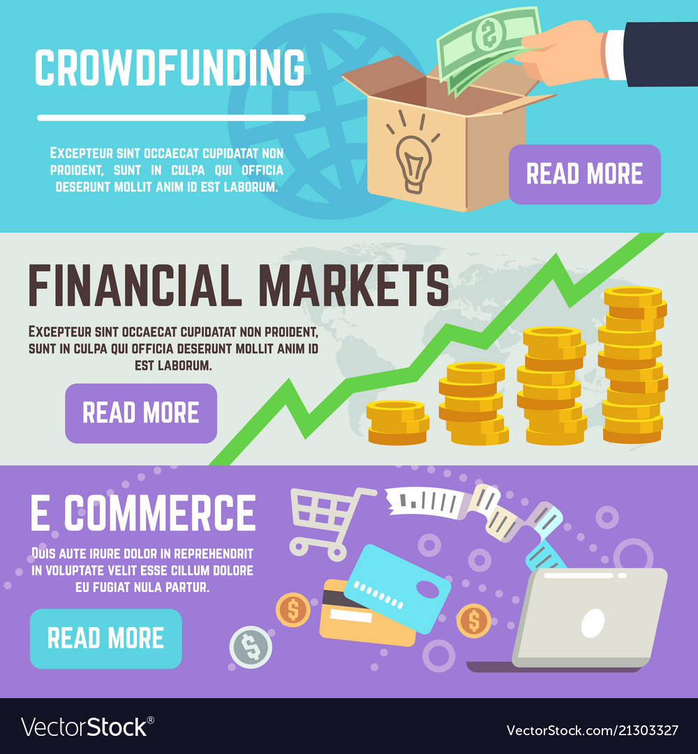 Crowdfunding banners business banking e commerce