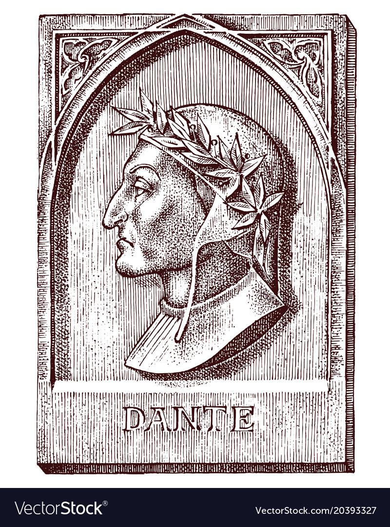 Dante alighieri element for architecture design vector image
