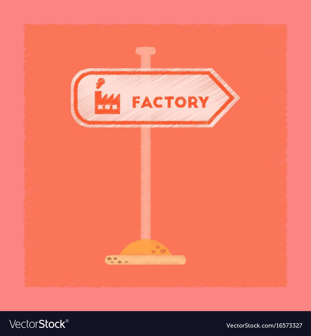 Flat shading style icon sign factory