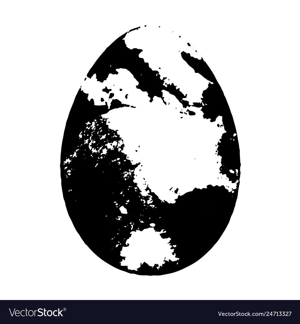Grunge isolated egg