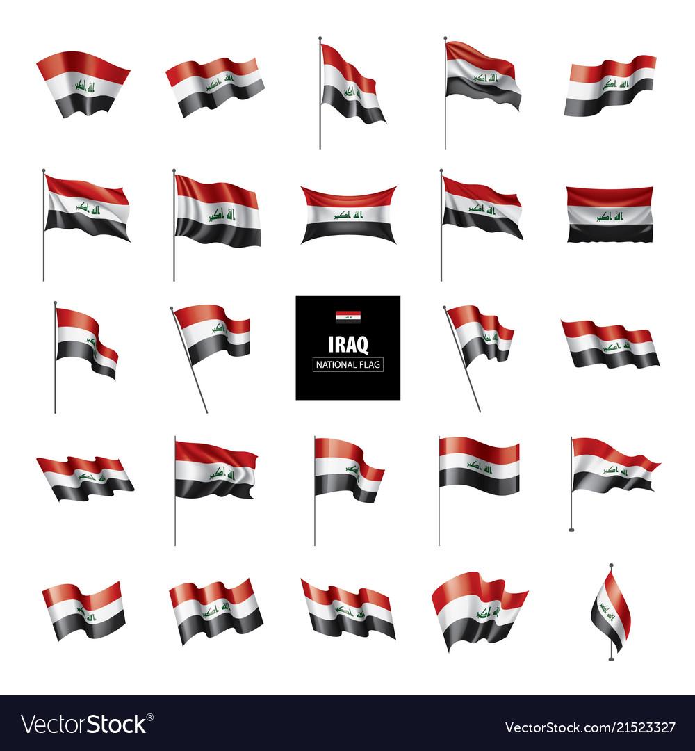 Iraqi flag on a white