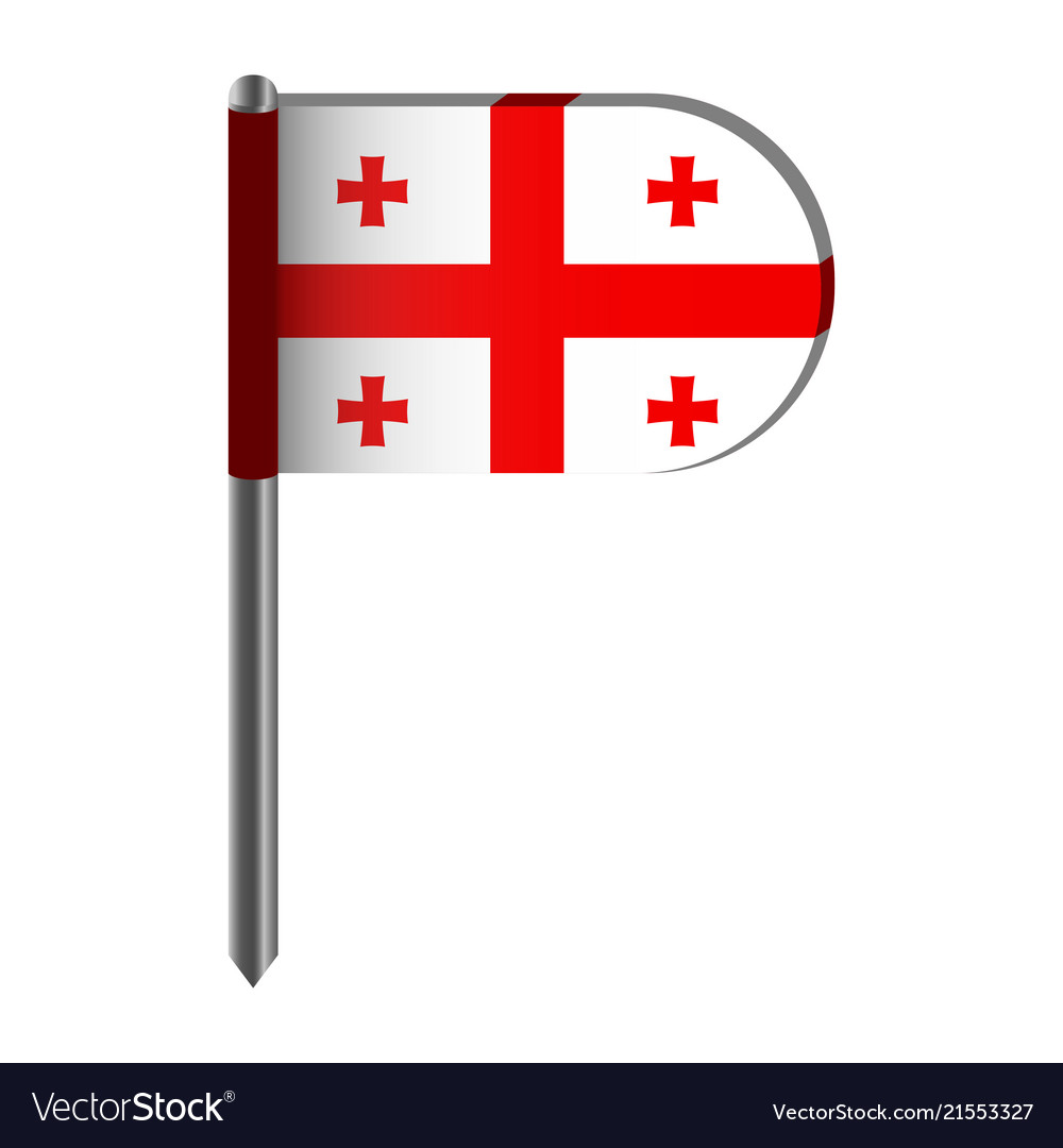 Isolated flag of england