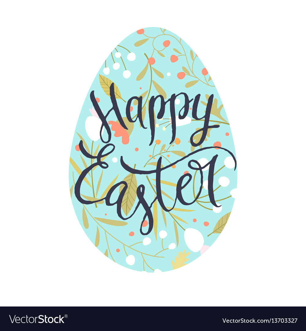 Modern hand drawn lettering happy easter