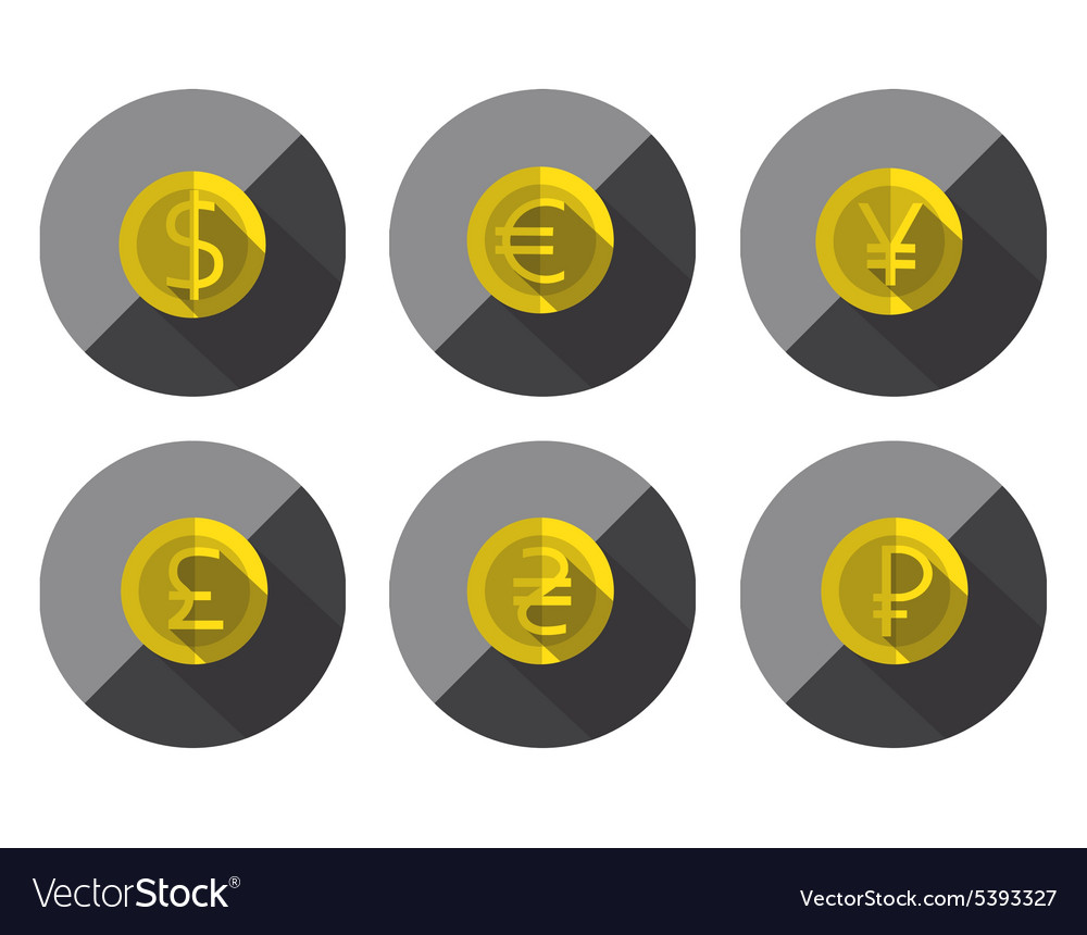 Money Flat icon set for Web and Mobile Application