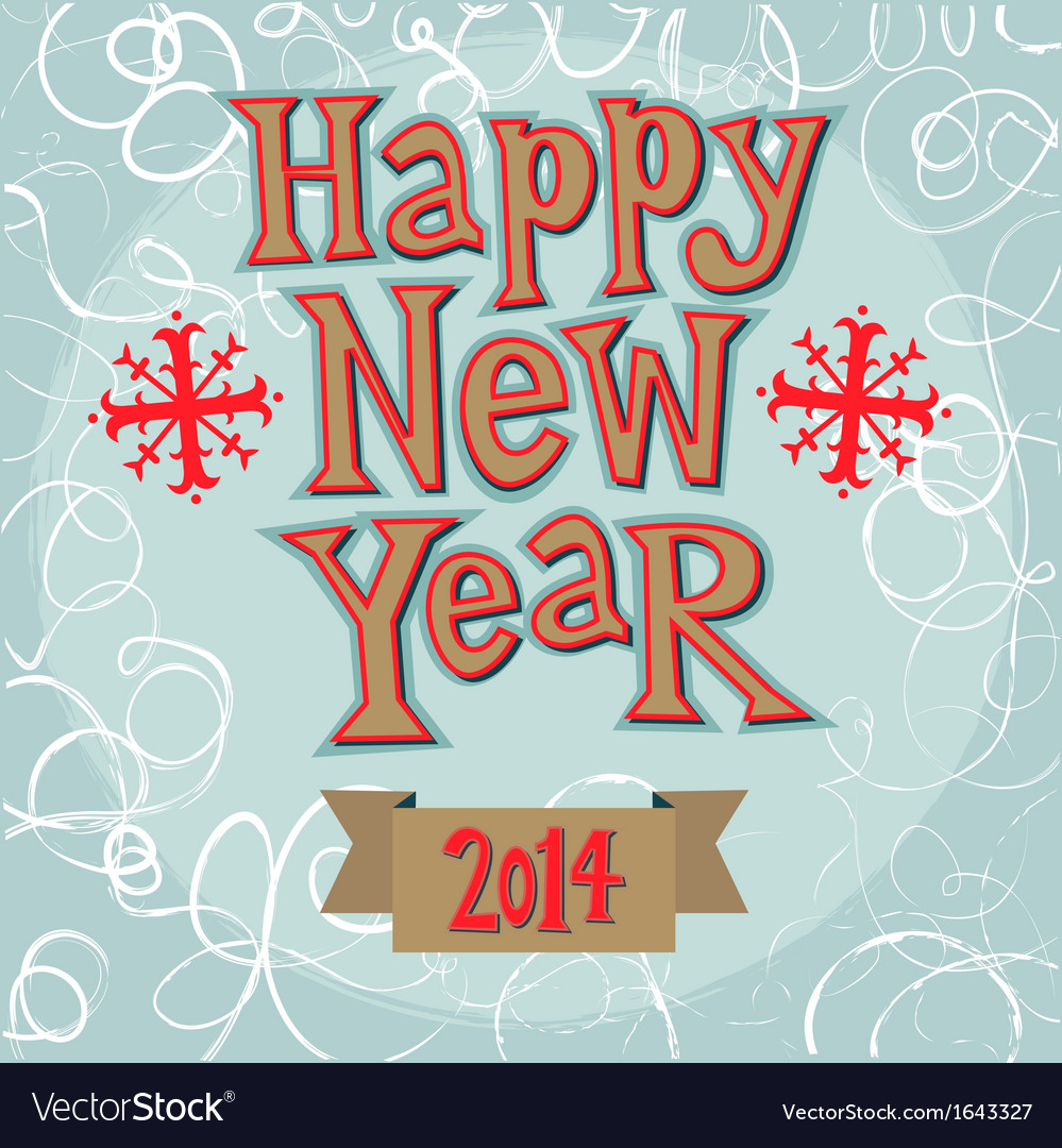 New Year Greeting Card Concept Royalty Free Vector Image