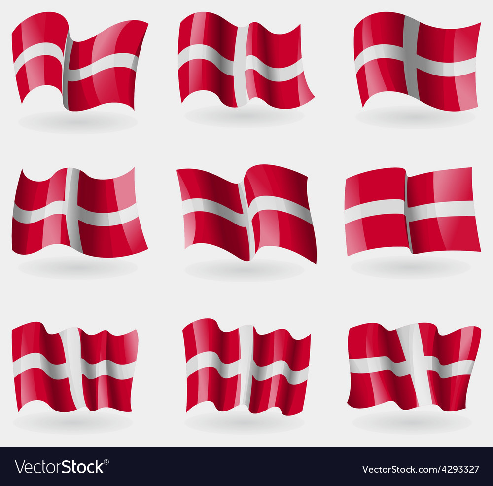 Set of Military Order Malta flags in the air