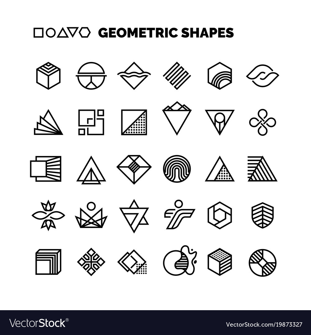 Universal black and white geometric shapes