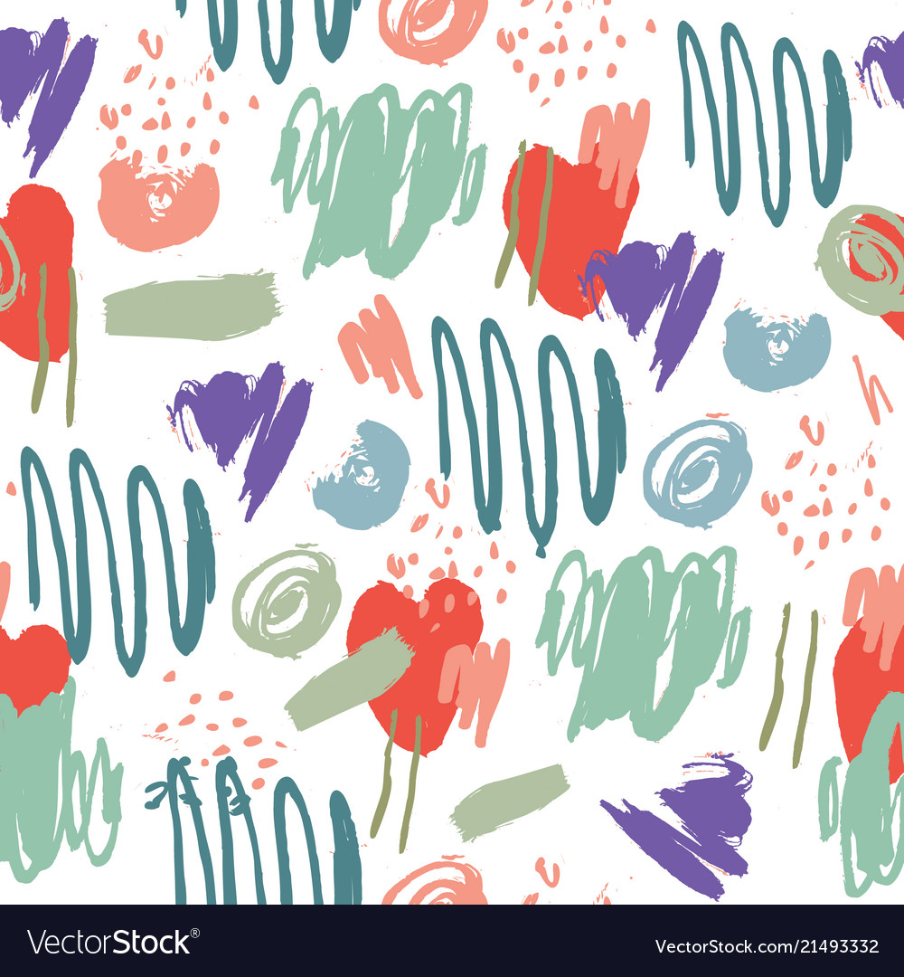 Abstract artistic seamless pattern strokes
