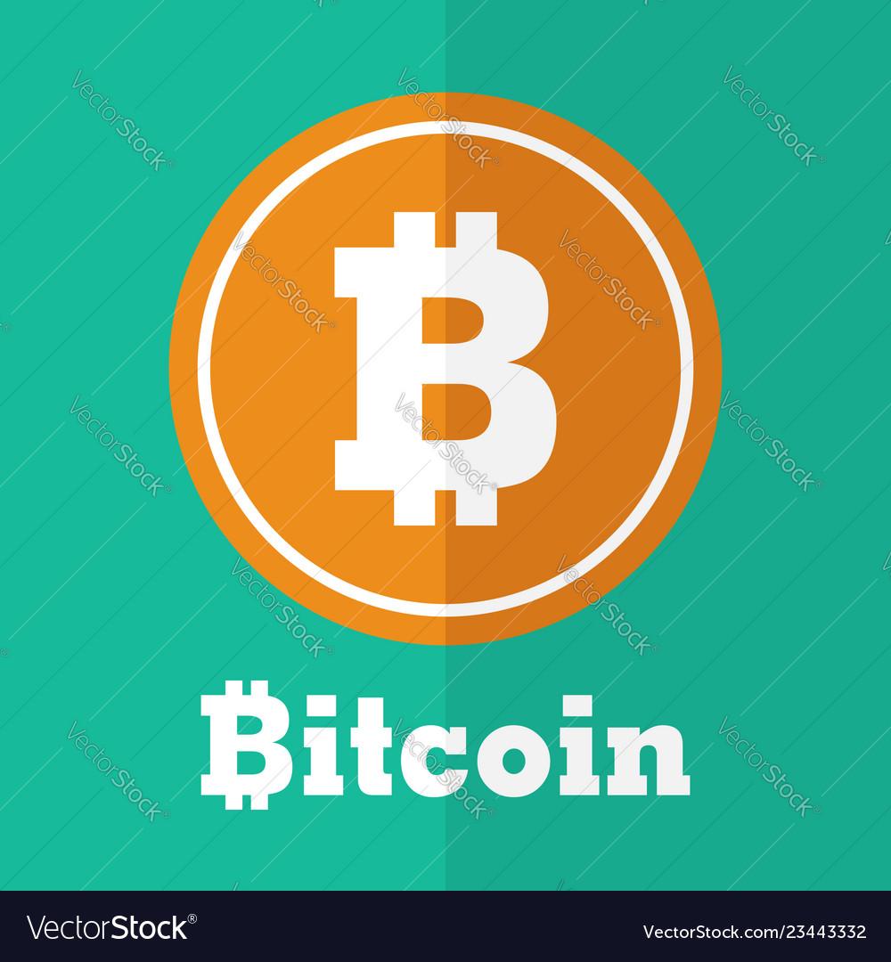 Bitcoin symbol flat design