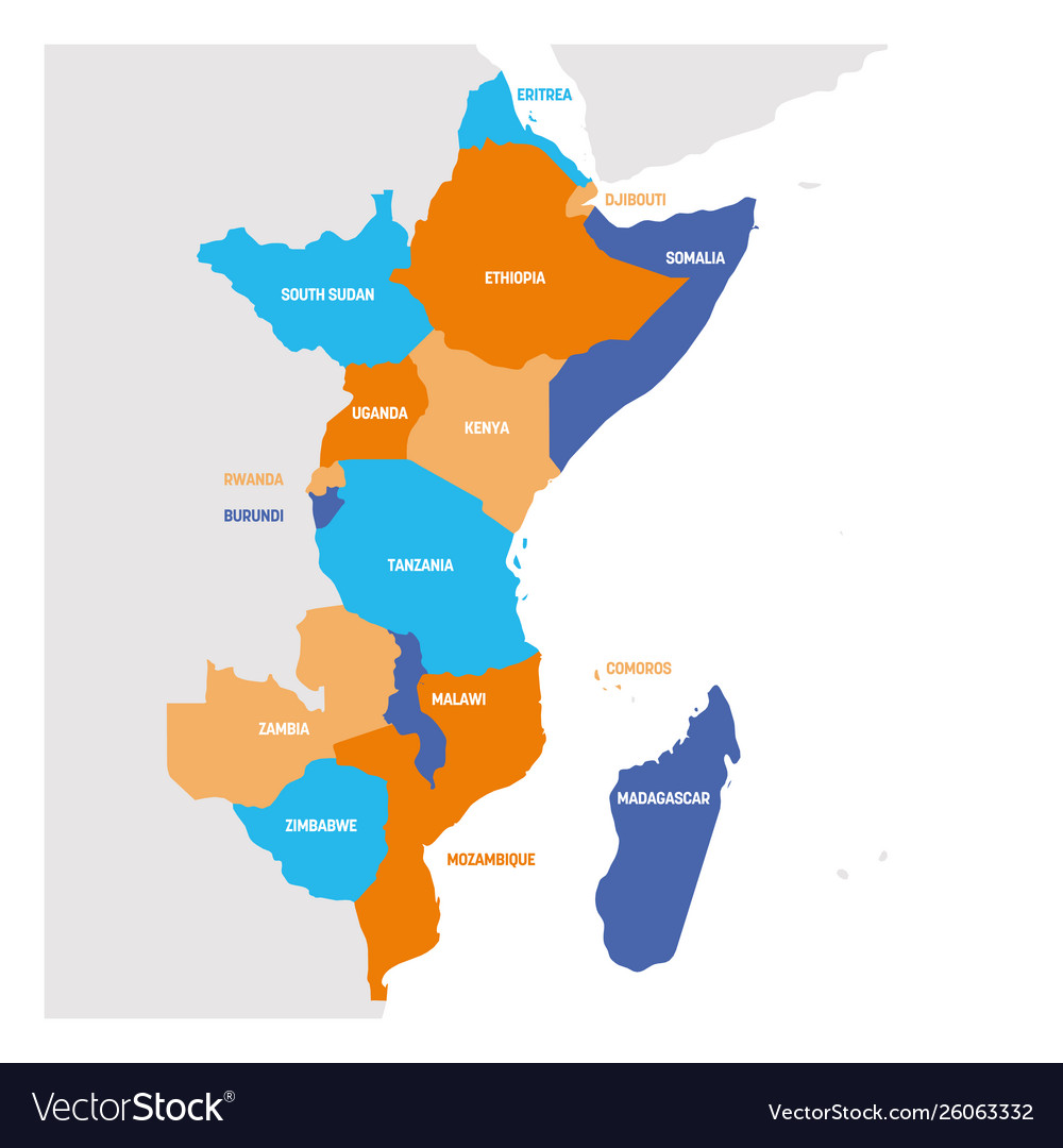 Map Of East Africa Showing Countries.East Africa Region Map Countries In Eastern