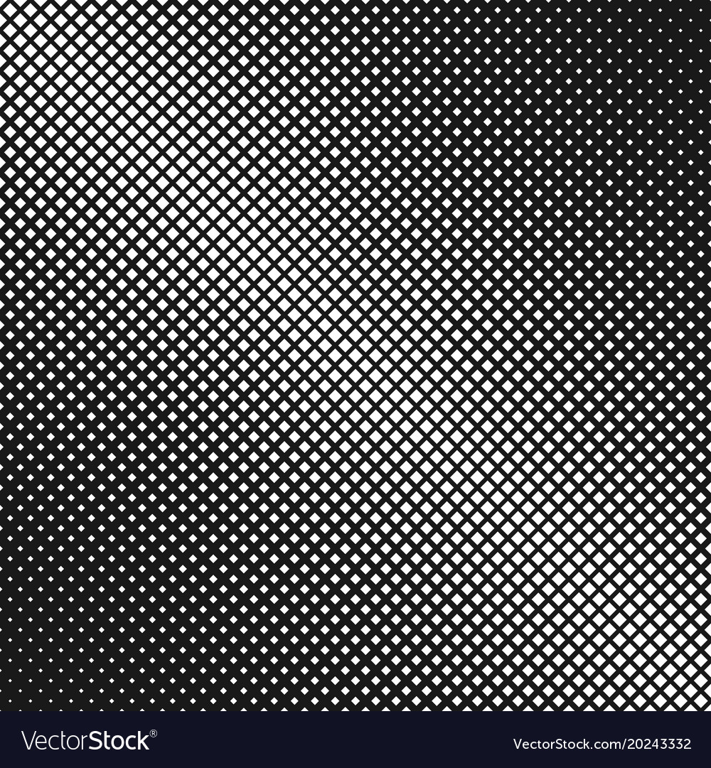 Geometrical abstract halftone square pattern