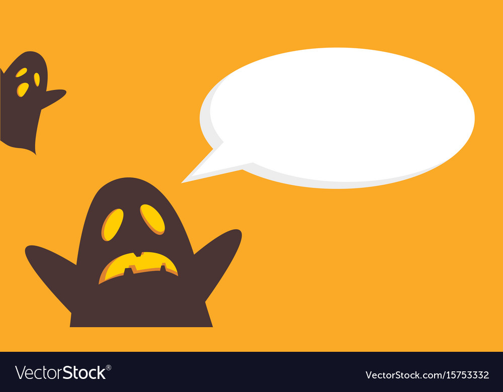 Halloween style cute card vector image
