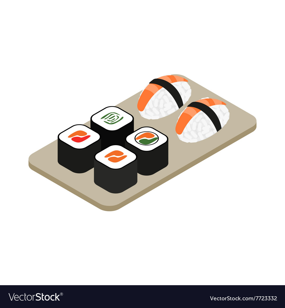 Japanese seafood sushi roll icon