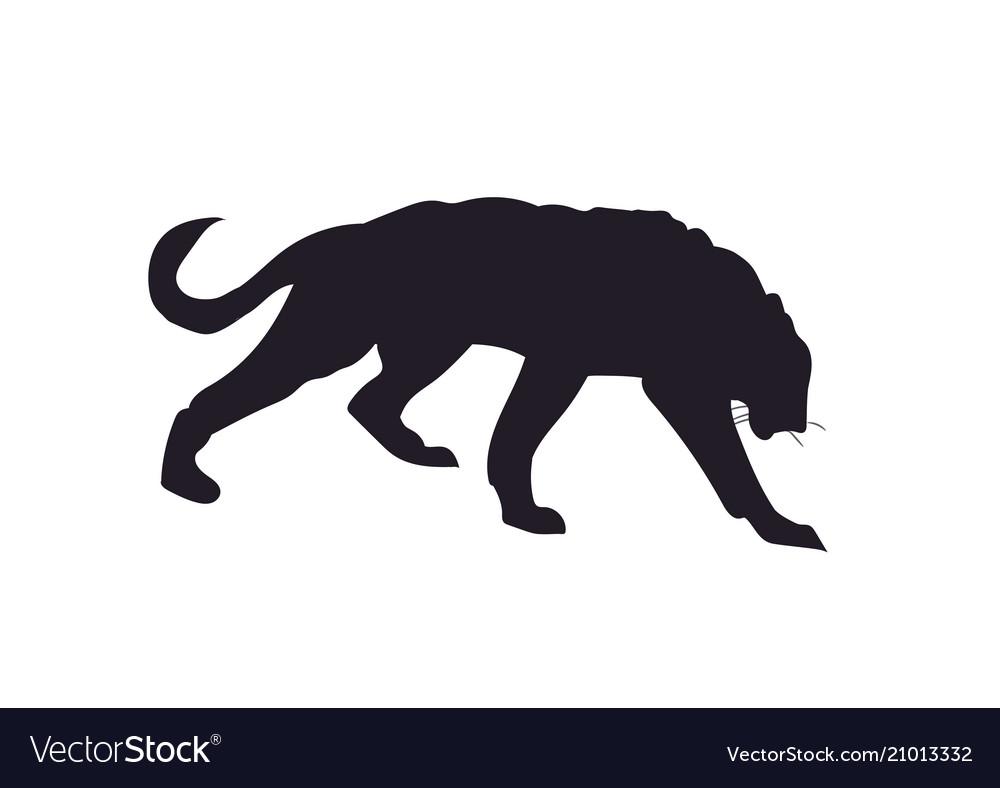 Lioness silhouette