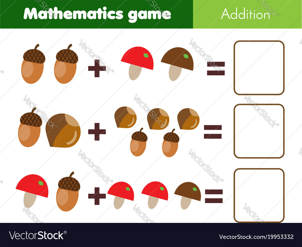 Mathematics workshhet counting eduational game