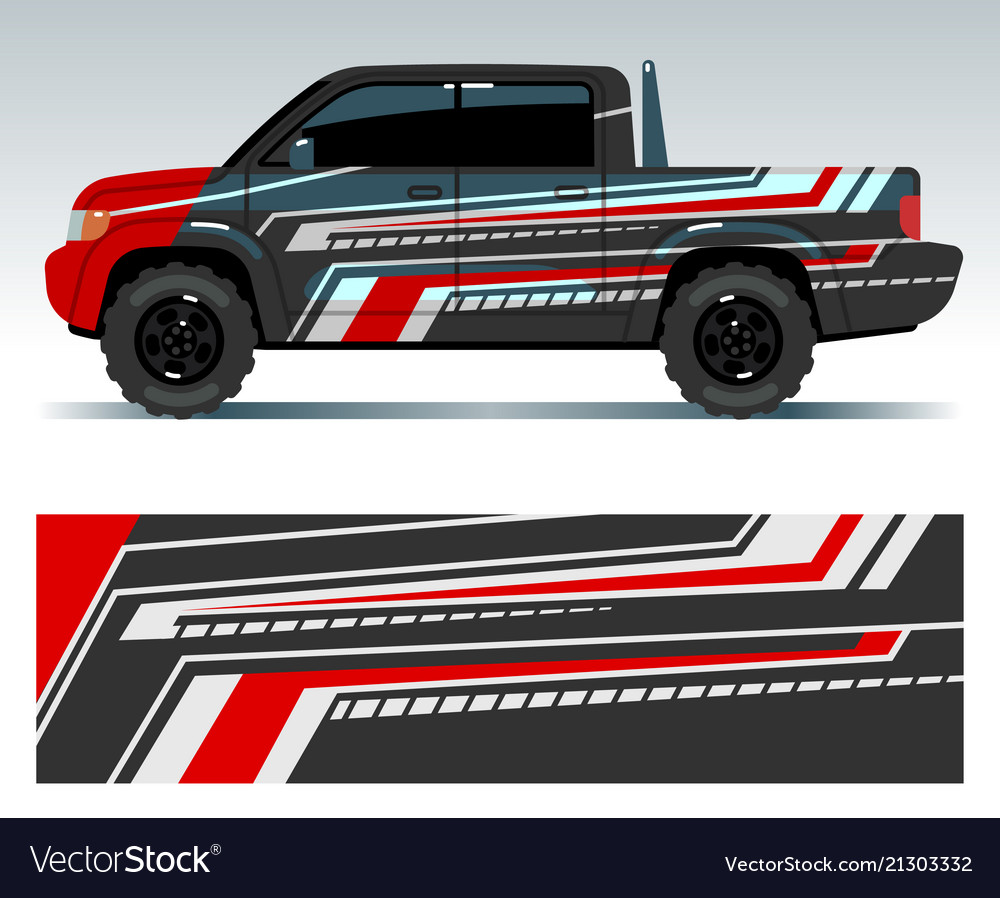 Racing car design vehicle wrap vinyl graphics vector image