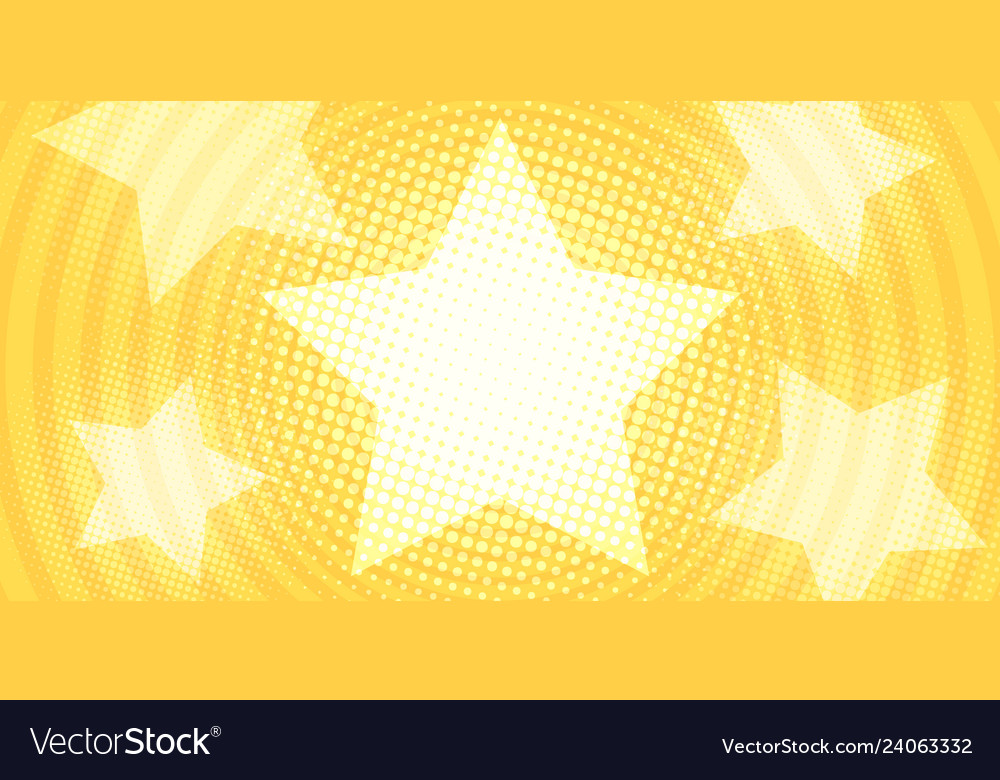 Star yellow gold background