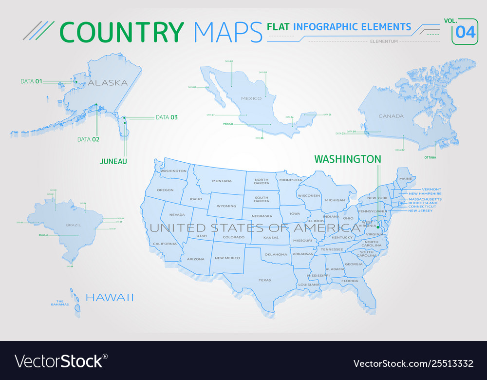 United states america alaska hawaii mexico