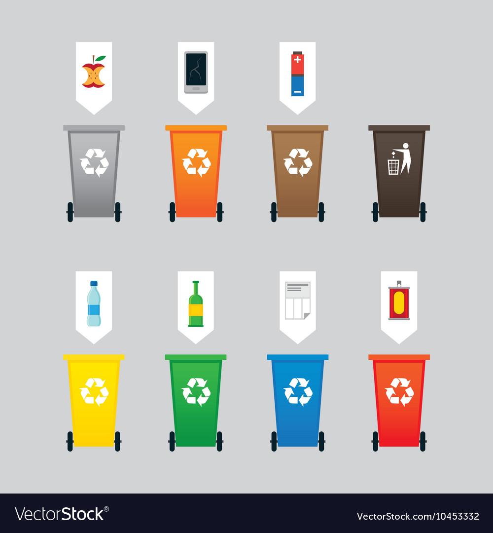 Waste or Garbage Bin Separation