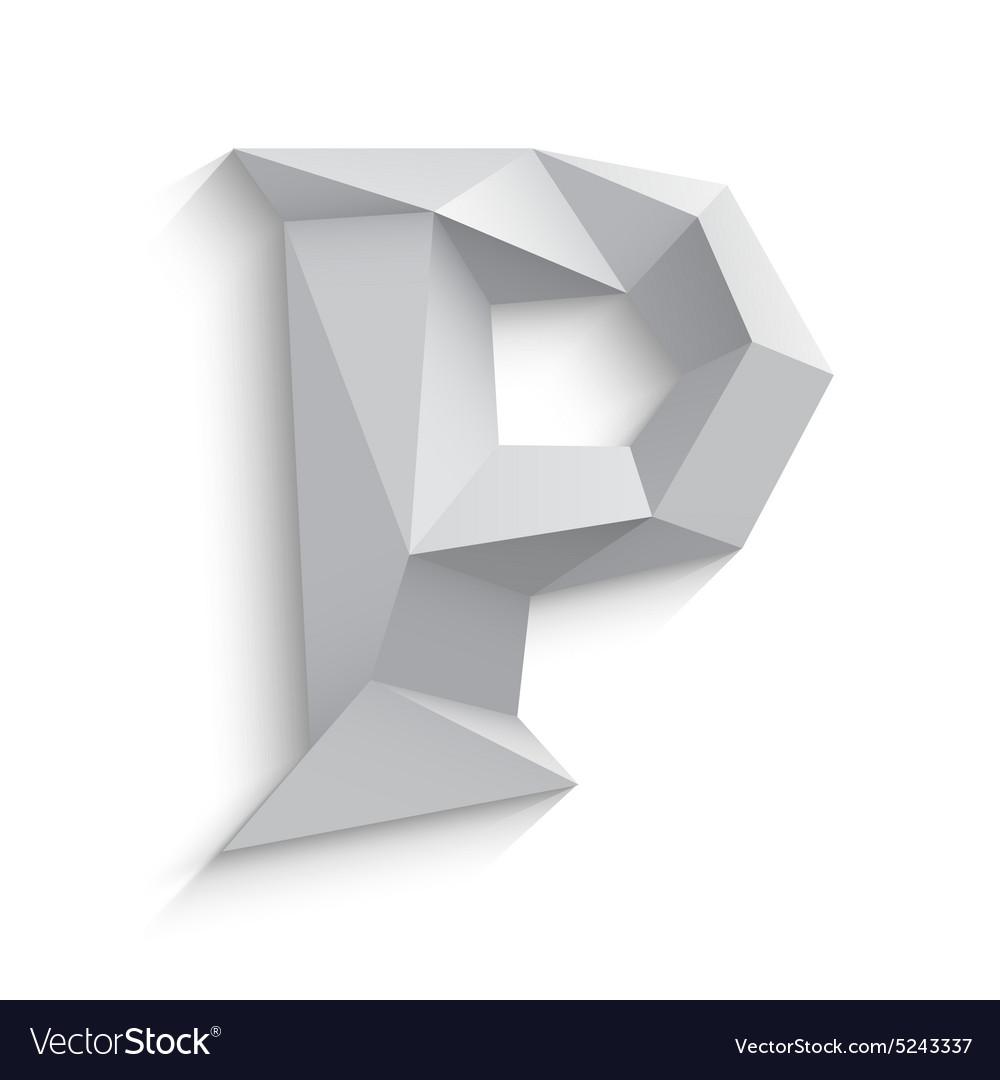 3d letter P on white