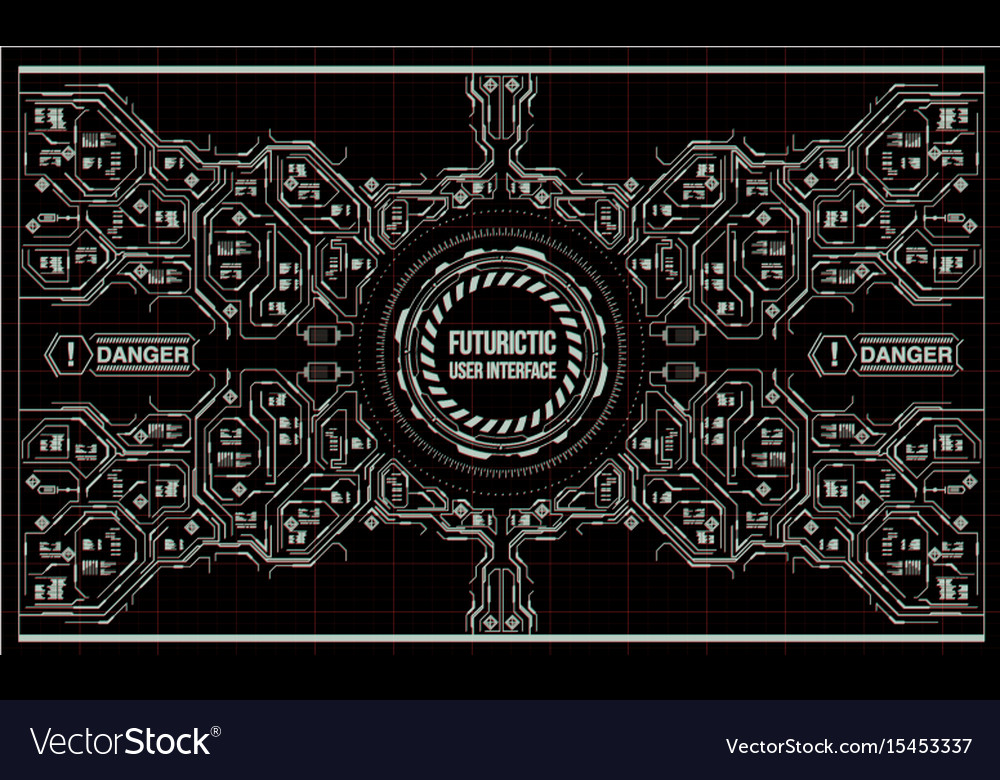 Background with futuristic user interface