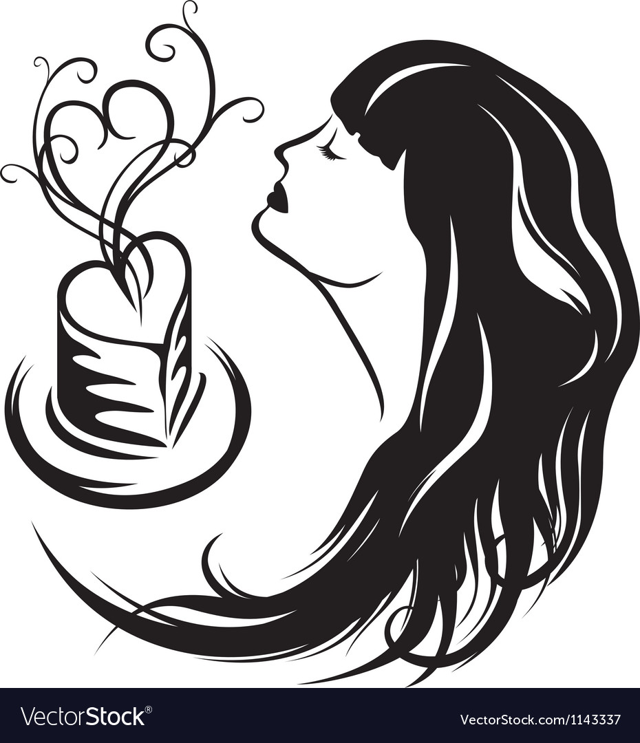 Girl enjoying the aroma of coffee