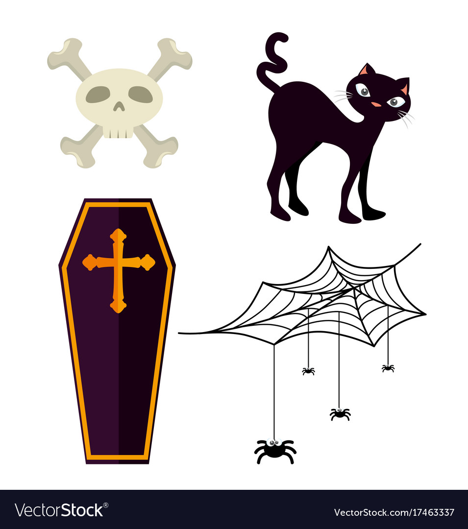 Happy halloween design elements