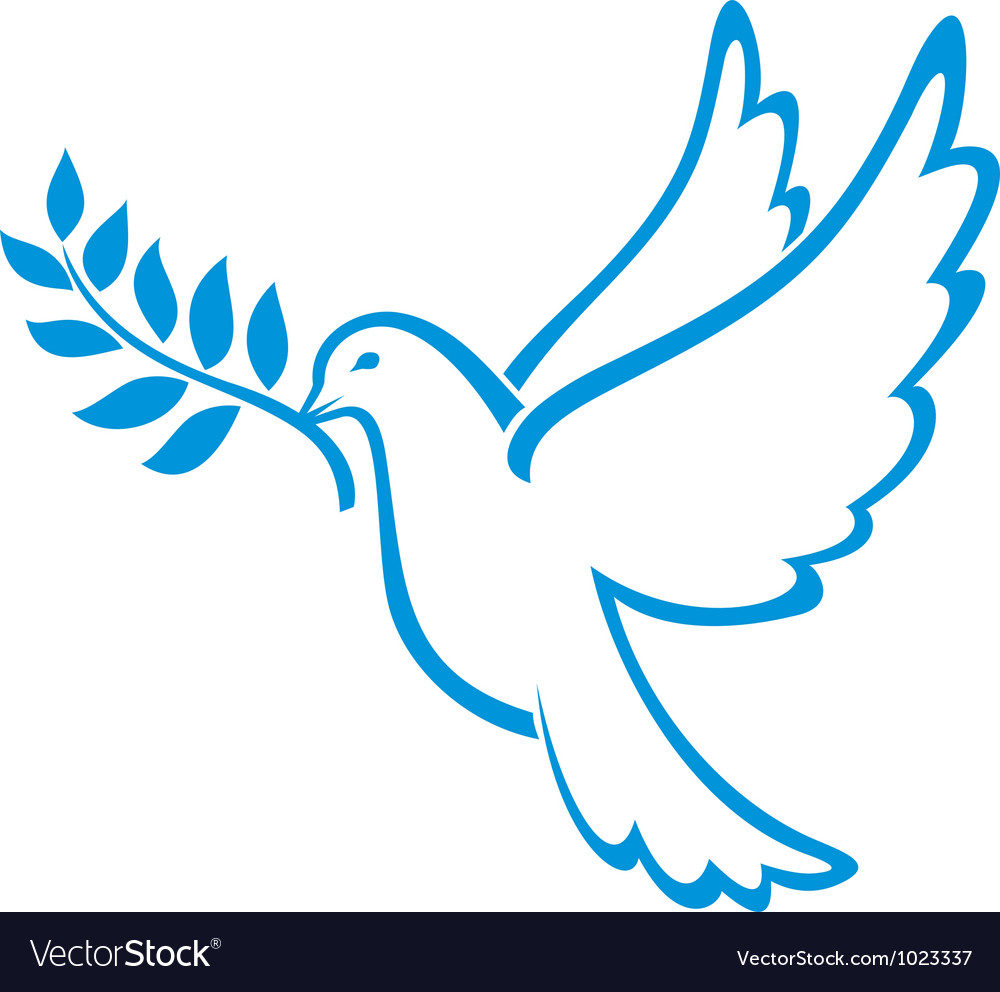 peace dove royalty free vector image vectorstock rh vectorstock com dove vector free download dove vector download