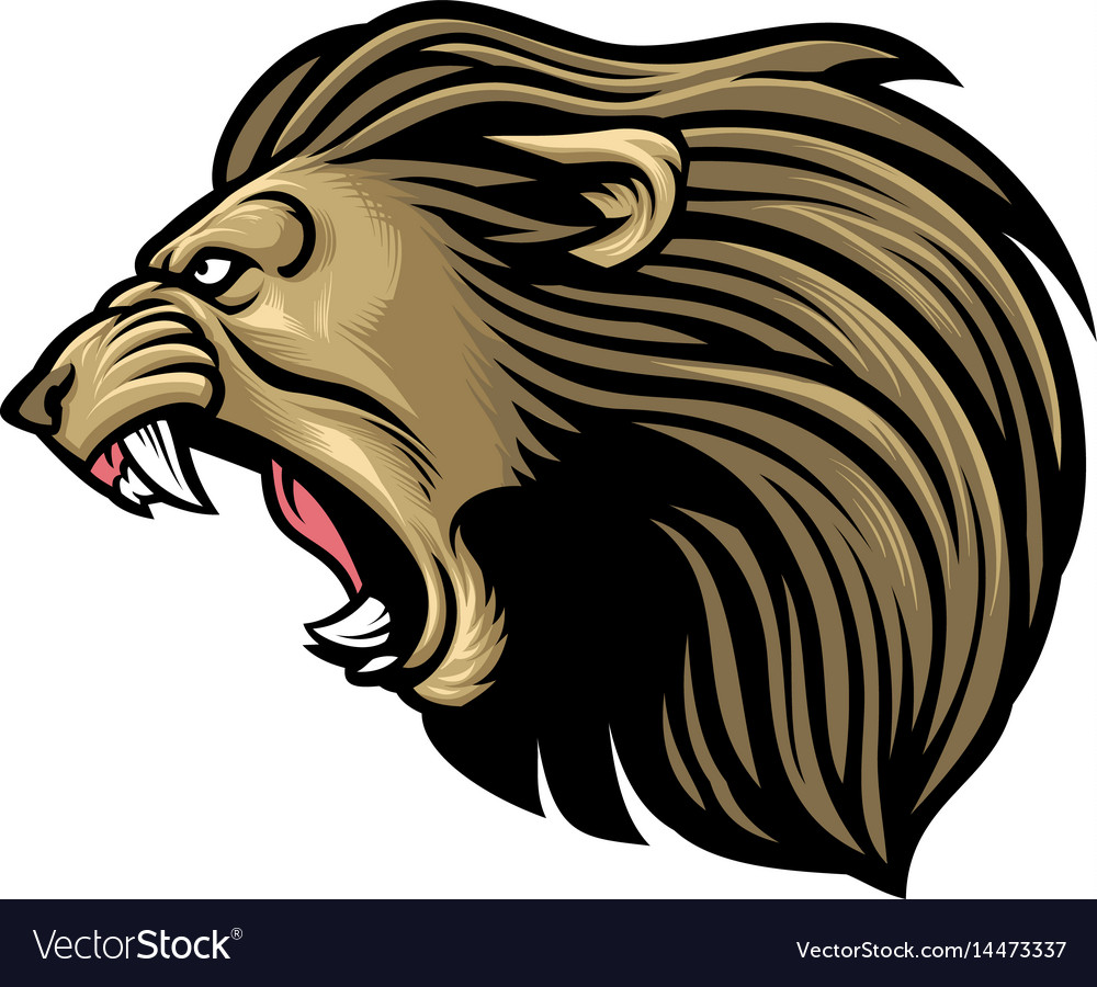 roaring lion head royalty free vector image vectorstock