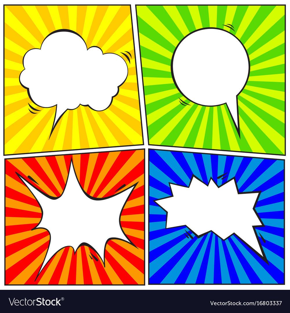 Set of comic speech bubble cartoon