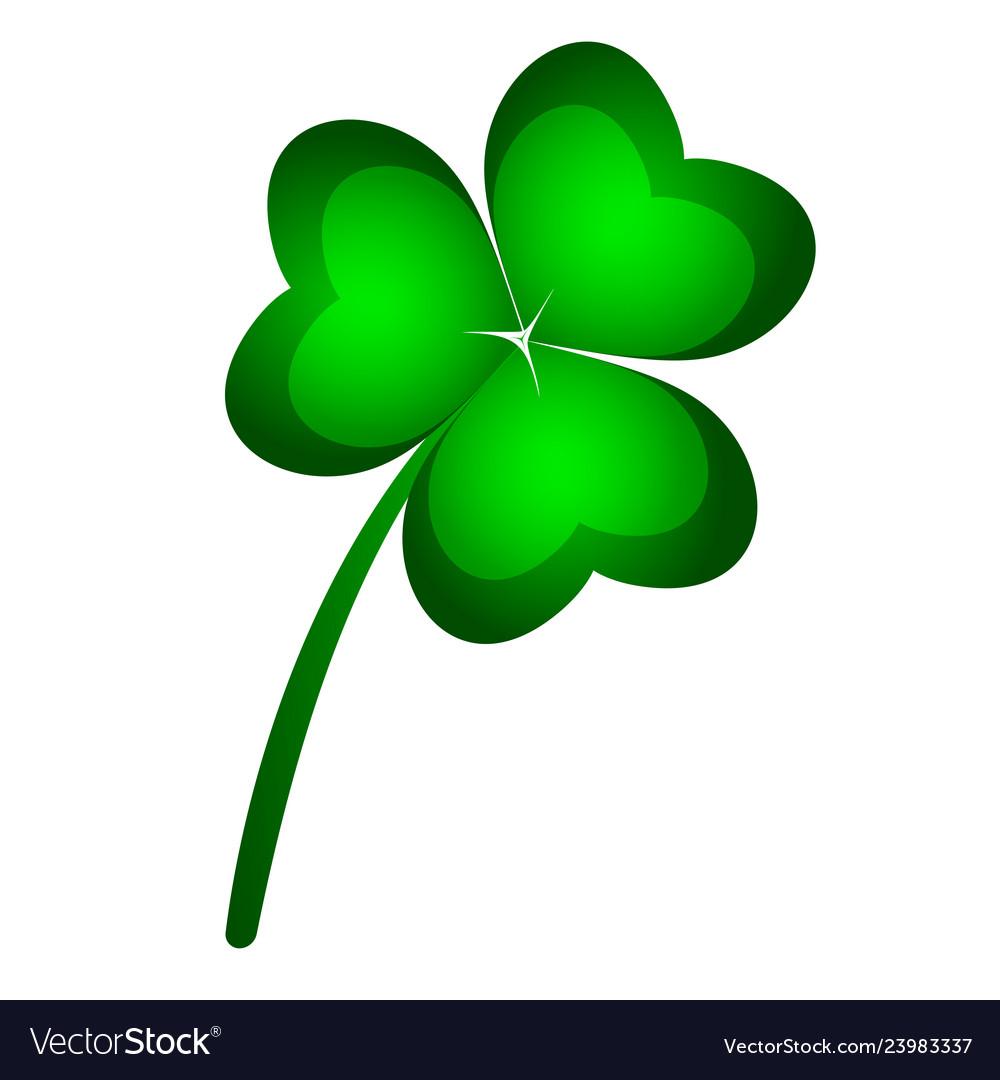 Three-leaf clover symbol of st patrick s day