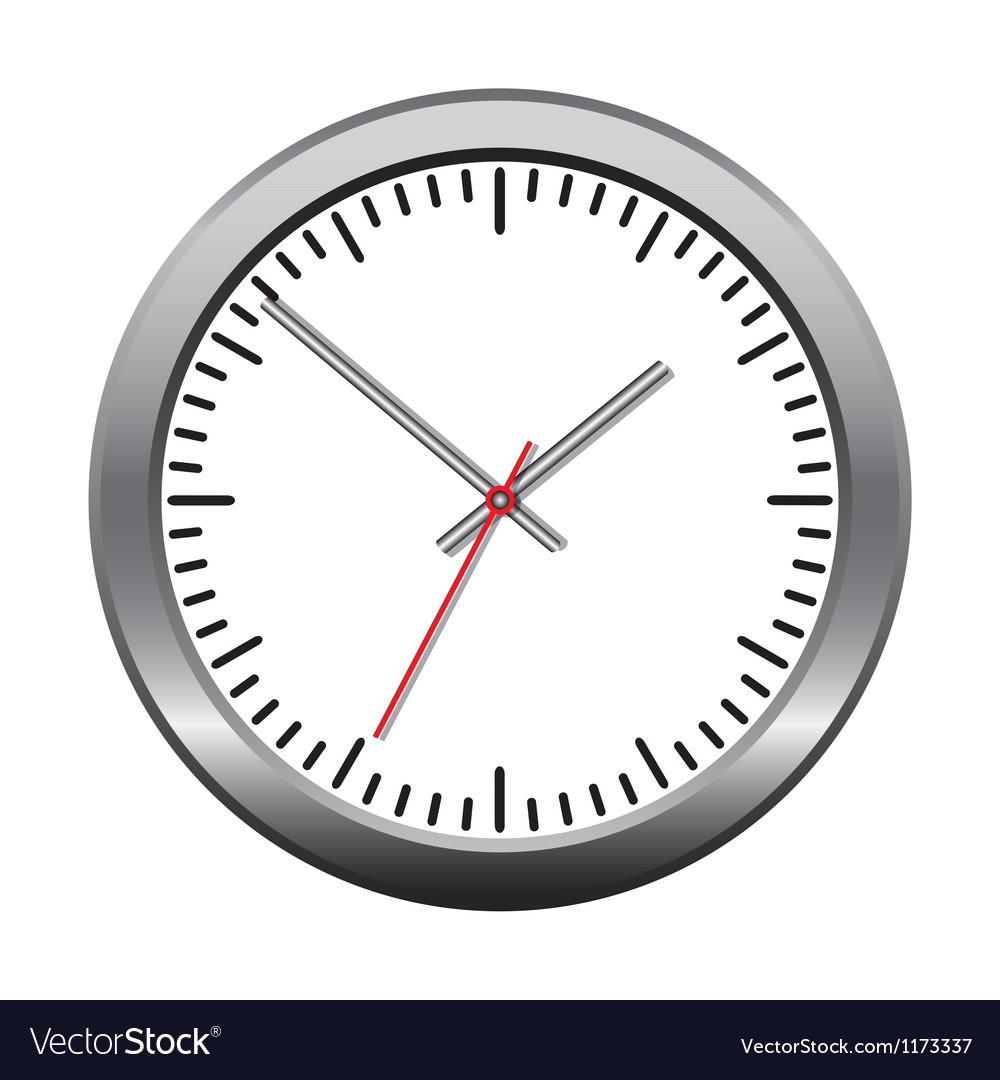Wall mechanical clock vector image
