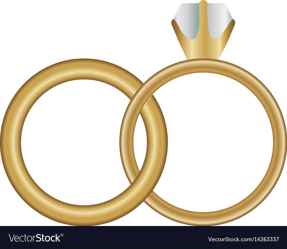 White Background With Wedding Rings