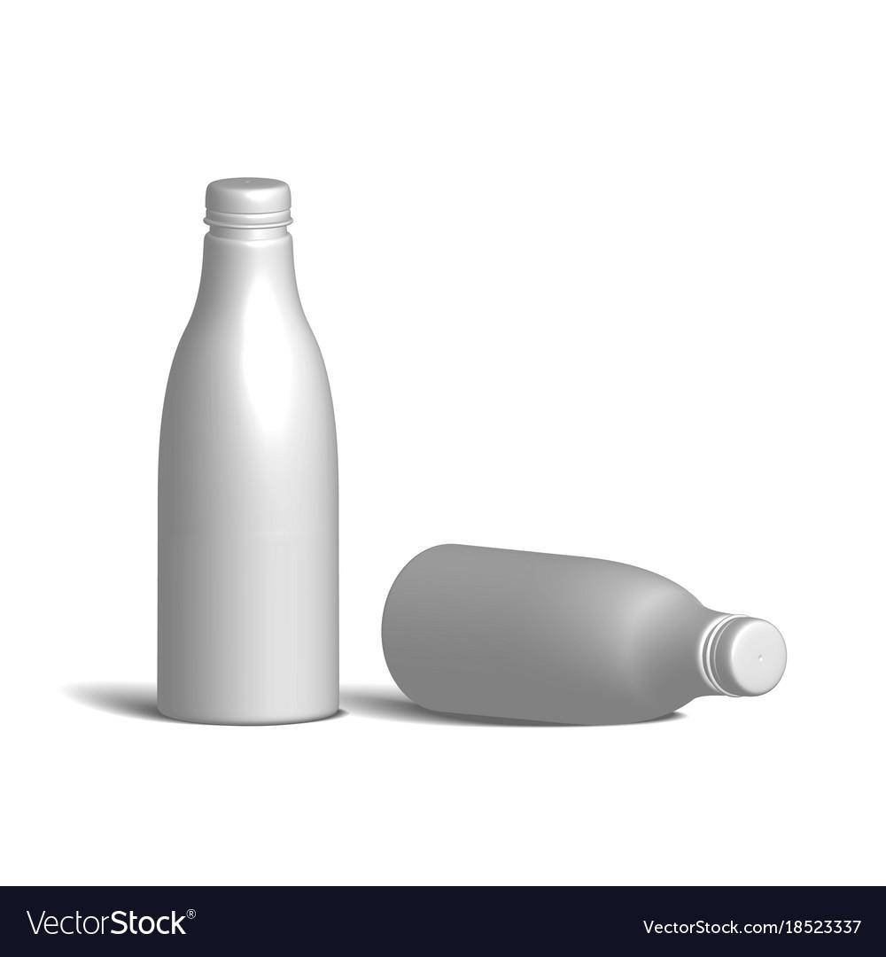 White realistic plastic bottle vector image