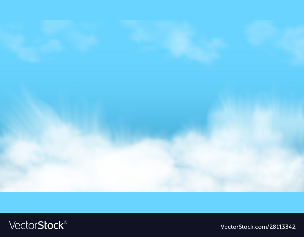 3d abstract blue sky and white clouds